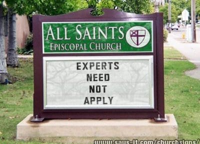 church-sign-no-experts